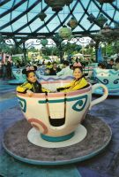 Twin mice in a Cup of Tea by Fiarrella
