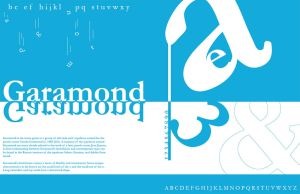 Garamond specimen by DT1087