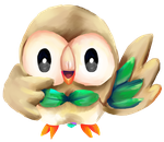 Rowlet by Iffy-Jiffy