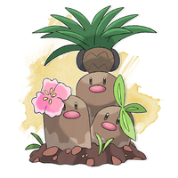 #051 United Dugtrio by DiegoGuilherme