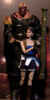 Custom RE3 Jill Valentine and Nemesis by billvolc