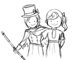 WIP - Trucy and Flora by Silentsnowman