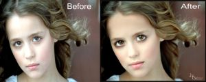 Little Girl Before and After by FairieGoodMother