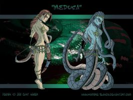 Medusa Character Design by hombre-blanco