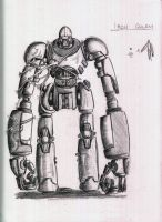 Iron Golem Sketch: Version 2 by CriticalRobotBoy