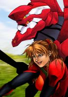 asuka eva02 by dannith (COLORS) by carol-colors
