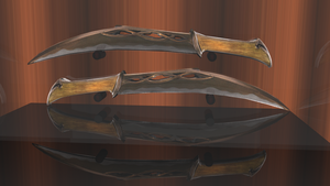 DAGGERS OF TAURIEL The Hobbit DOS Knives 3D Render by HomelessGoomba