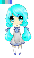 Pallette adoptable- blue girl by rainscarce