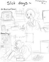 Sick days by Drawing-Heart
