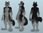 Fursona Reference Sheet by Anthro-Wolf