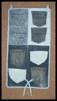 Jeans Pockets Organizer by DarkDollArt
