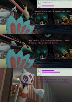 Ask Shiny and the pokemon gang #10 by Firehunter397