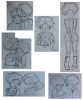 Jeremy + Aelita sketches by Millyoko