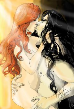 Hades and Persephone - There is love in me raging by Puistopulu