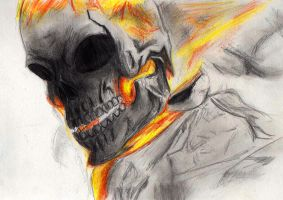 Ghost Rider WIP by Mijity