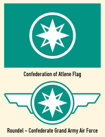Confederation of Atlene Flag and Roundel by RvBOMally