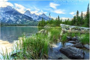 Taggart Lake and Tetons by tourofnature