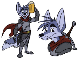 Character Design: Fox Knight by CoyoteEsquire