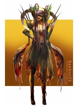 ::Character design::Zombie Fairy by nanshu29