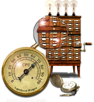 Steampunk Task Manager Icon MkIV by yereverluvinuncleber