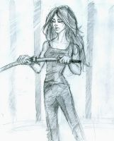 Lily with a sword by Hillary-CW