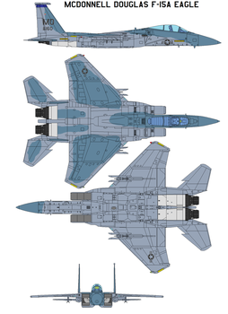 McDonnell Douglas F-15A Eagle by bagera3005