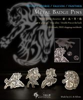 Panther metal badge pin by J-C