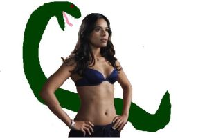 Dilshad bout to get eaten by a Snake by californasun