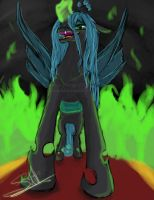 Queen Chrysalis~This day WILL be perfect! by LunarSapphire-studio