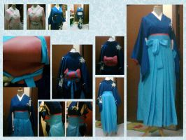 My Blue Andon Hakama by seawaterwitch