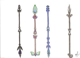 Elementle spears by MadMother88