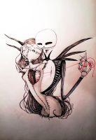 Jack Skellington and Sally by Aleiino