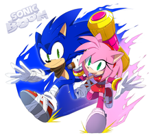 Sonic and Amy 2014 by BloomTH