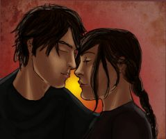Katniss and Gale by solemnlyswear22