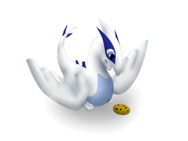 Baby Lugia by cynderplayer