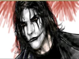 The Crow - just a portrait by thedarkcloak
