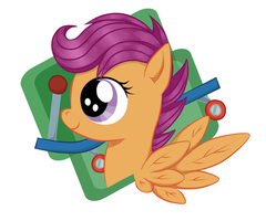 Scootaloo Keychain by Talonsword