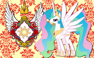 Princess Celestia CoA WP by AliceHumanSacrifice0
