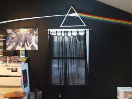Dark Side of My Bedroom Wall by BethNugent