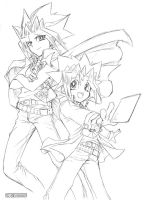 YUGIOH Rough line drawing by L-A-B-O