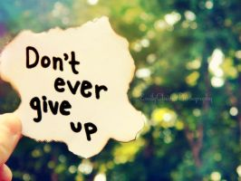 .: Don't Ever Give Up :. by EmeClaire