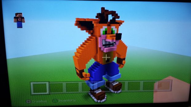 Crash bandicoot in Minecraft  by ClayTOONS1994