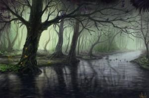 Fantasy forest by Azot2015