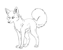 free wolf line art 2 by Wiggans-Adopts