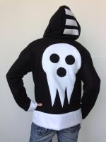 Death the Kid Fleece Cosplay Hoodie - Back by Weeaboo-Warehouse