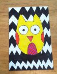 Whimsical Owl ATC by LupaAmor96