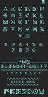 The Elementarity Typeface by Alexgorilla