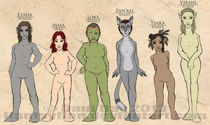 Ladies of Skyrim by FlantsyFlan