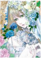Blue rose garden by solalis1226