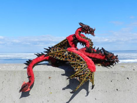 Lava dragon is resting from the Gulf of Finland by LadyDragoNita